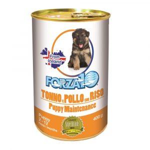 Forza10 Maintenance Puppy pasztet z tuńczykiem, kurczakiem i ryżem 400g dla szczeniąt