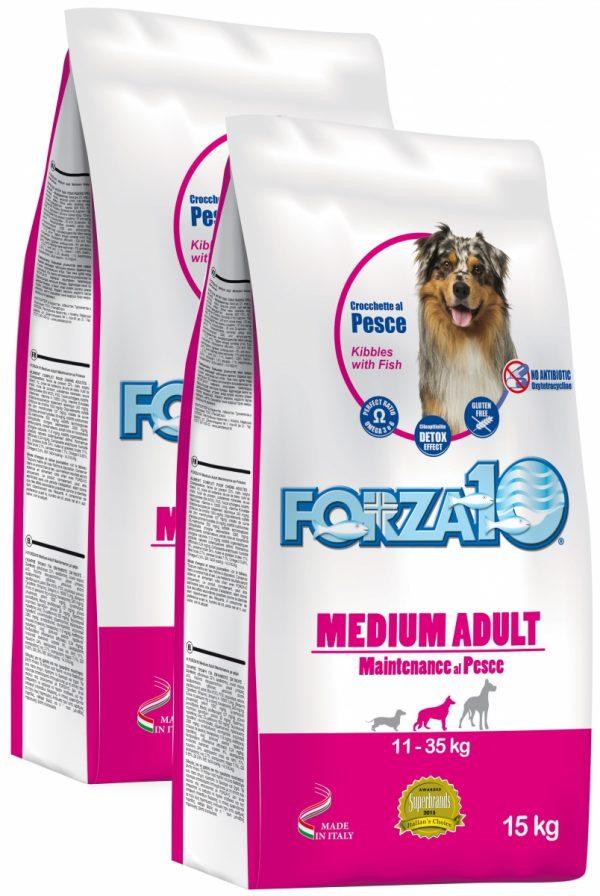 Forza10 Medium Maintenance z rybą 30kg (2 x 15kg) - sucha karma dla psa