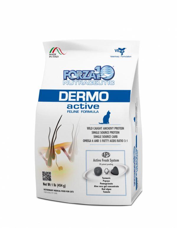 Forza10  Dermo Active 454g Skóra Sierść sucha karma dla kota
