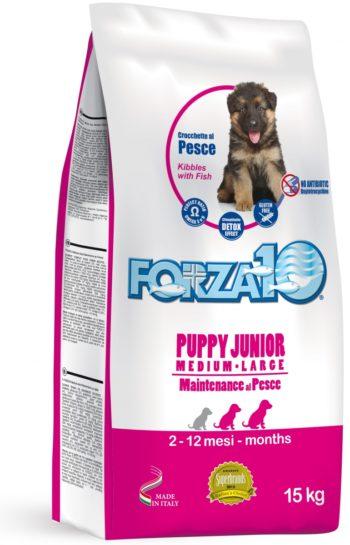 Forza10 Maintenance Puppy Junior z rybą 15kg karma dla szczeniąt ras średnich i dużych