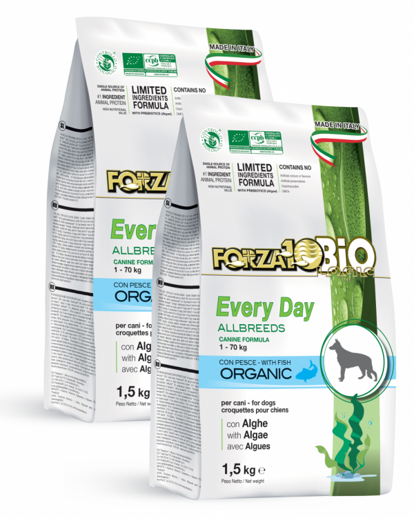 Forza10 Mini/Medium Every day BiO ryba i algi 2 x 1,5kg - sucha karma dla psa
