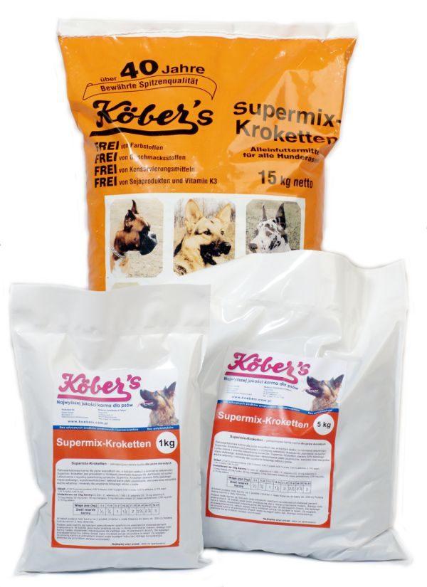 Koebers Supermix krokiety 5 kg - wspaniała sucha karma dla psów najwyższej jakości