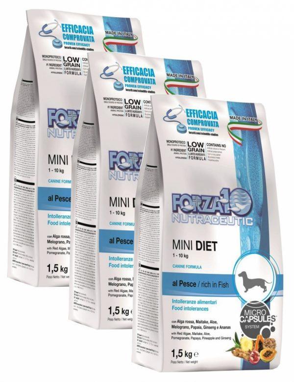 Forza10 Mini Diet Fish 4,5kg - 3 x 1,5kg - sucha karma dla psa