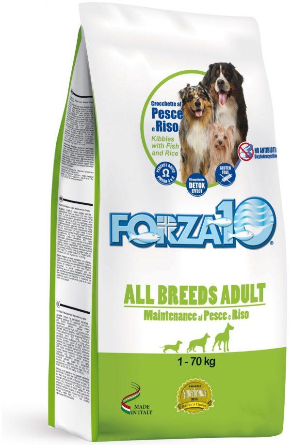 Forza10 All Breeds Maintenance z rybą i ryżem 15kg - sucha karma dla psa