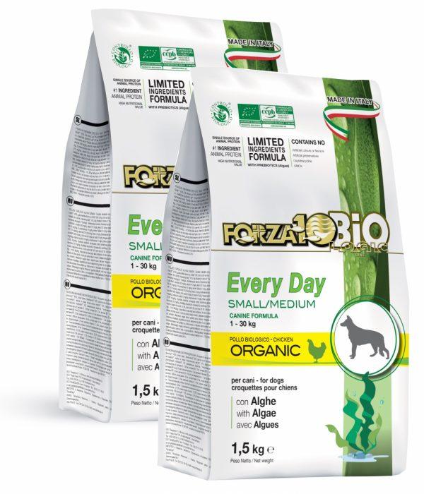Forza10 Mini/Medium Every day BiO kurczak i algi 3kg - sucha karma dla psa