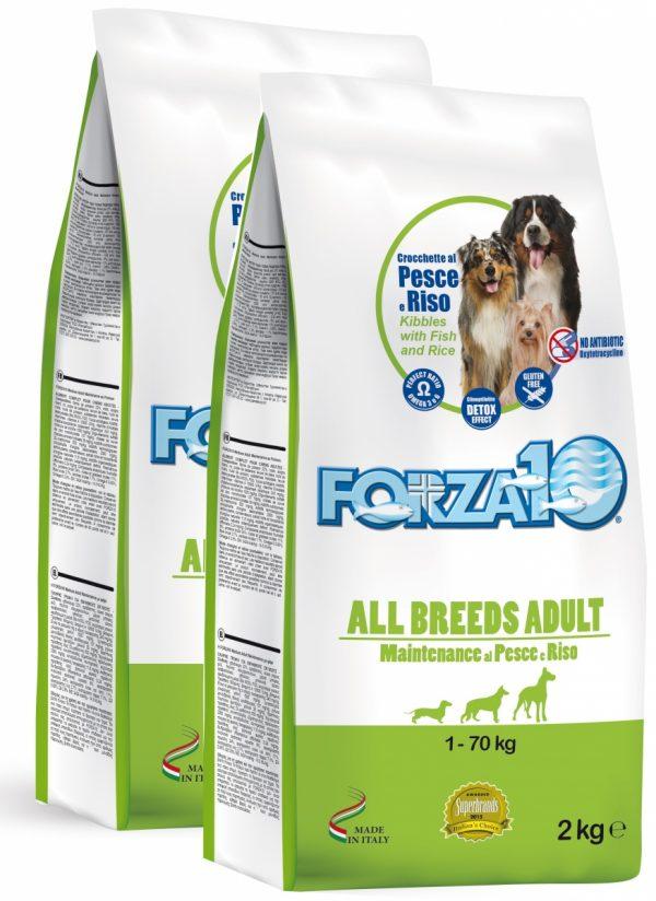 Forza10 All Breeds Maintenance z rybą i ryżem 2 x 2kg - sucha karma dla psa