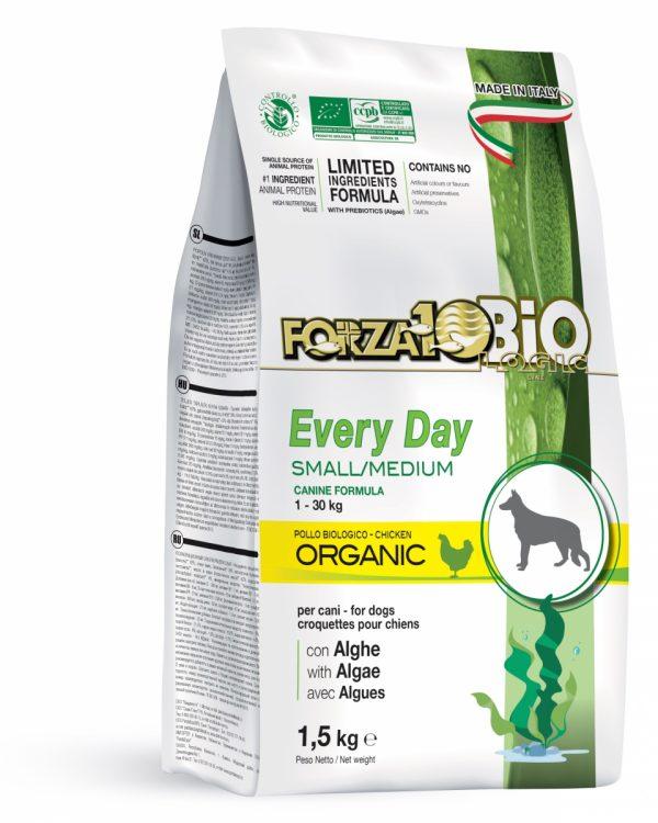 Forza10 Mini/Medium Every day BiO kurczak i algi 1,5kg - sucha karma dla psa