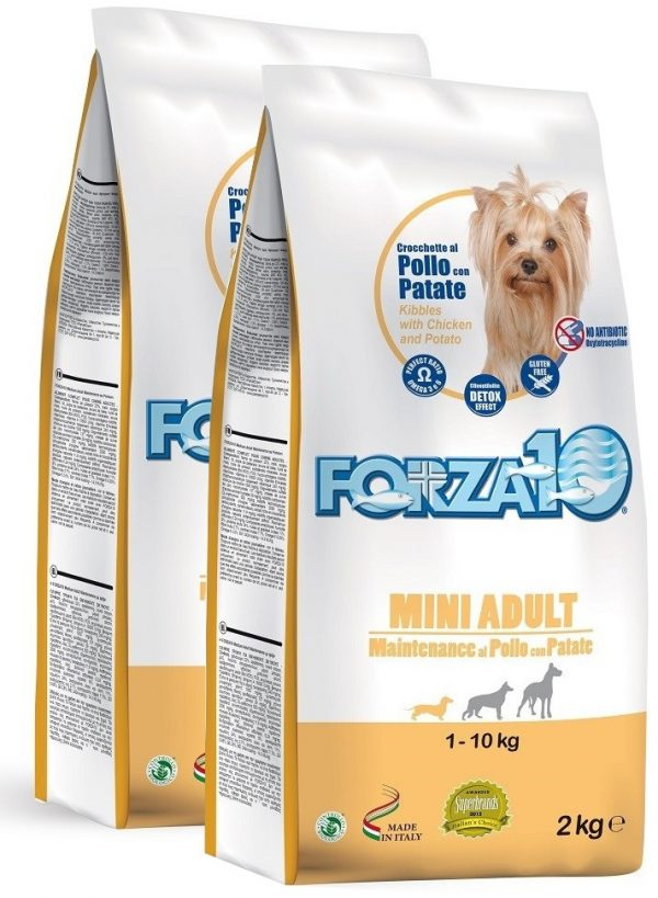 Forza10 Mini maintenance z kurczakiem i ziemniakami 2 x 2kg - sucha karma dla psa
