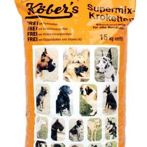 Koebers Supermix krokiety 15 kg – wspaniała sucha karma dla psów najwyższej jakości