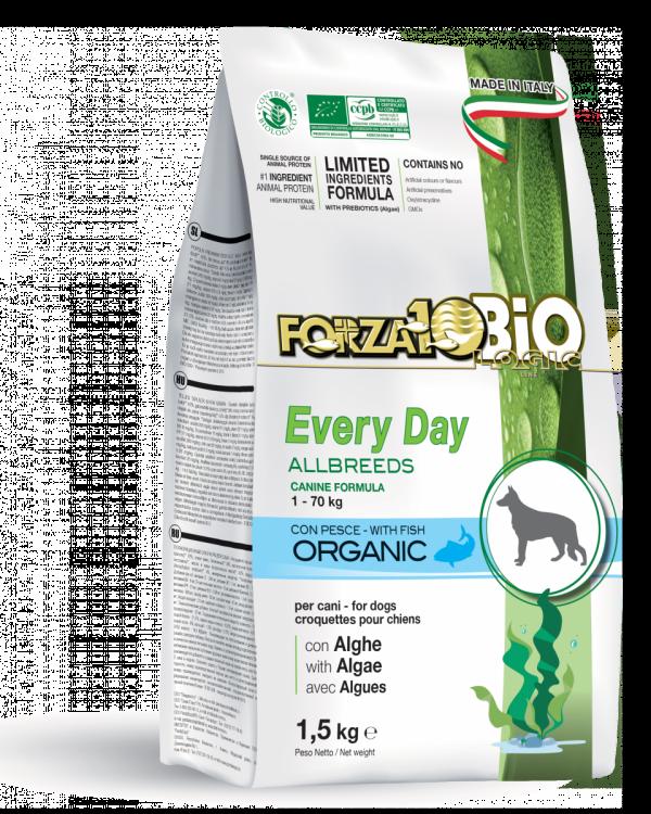 Forza10 Mini/Medium Every day BiO ryba i algi 1,5kg - sucha karma dla psa