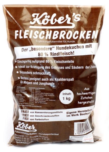 Koebers Fleischbrocken 1 kg - chrupiąca nagroda