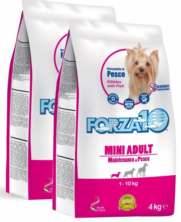 Forza10 Mini Maintenance z rybą 2 x 4kg - sucha karma dla psa