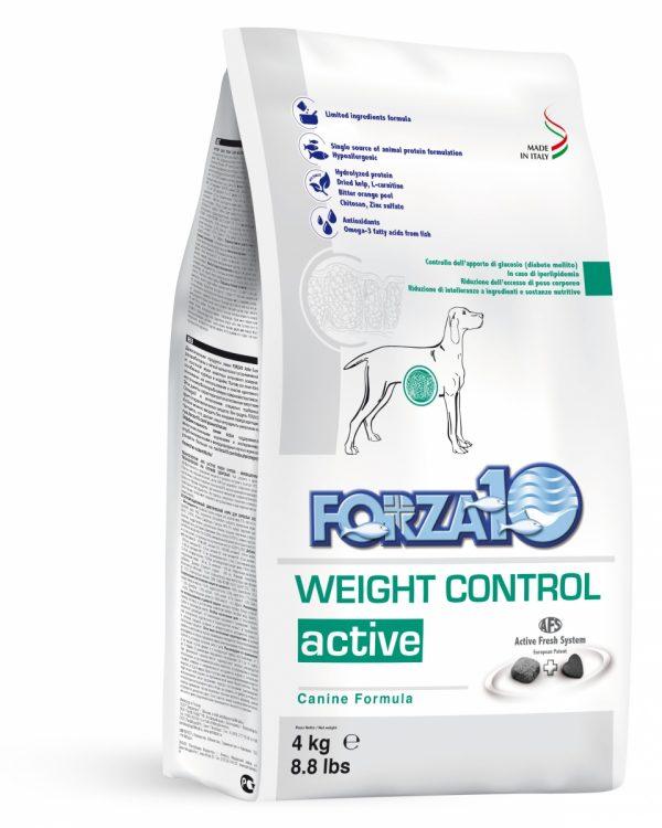 Forza10 Weight Control Active 4kg Nadwaga - sucha karma dla psów