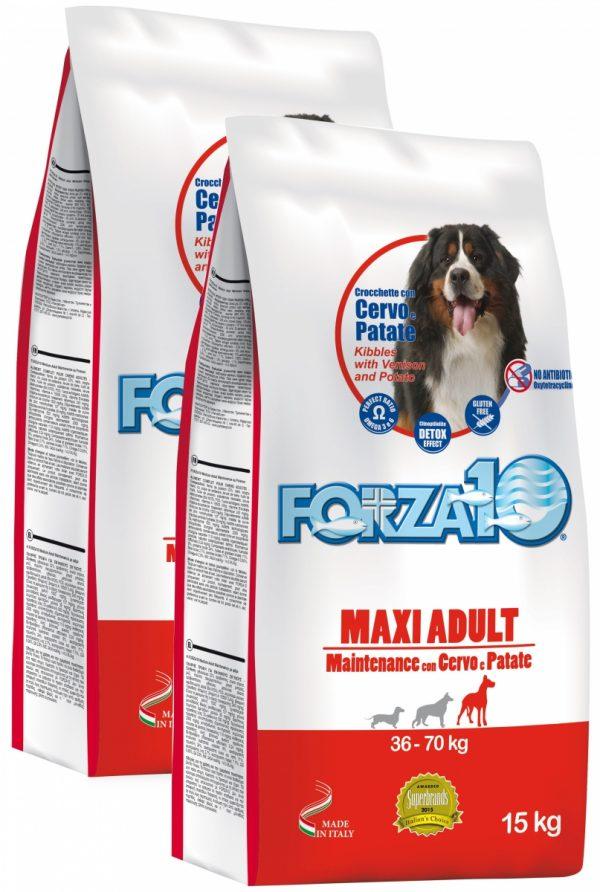 Forza10 Maxi Maintenance z jeleniem i ziemniakami 30kg (2 x15kg)  - sucha karma dla psa