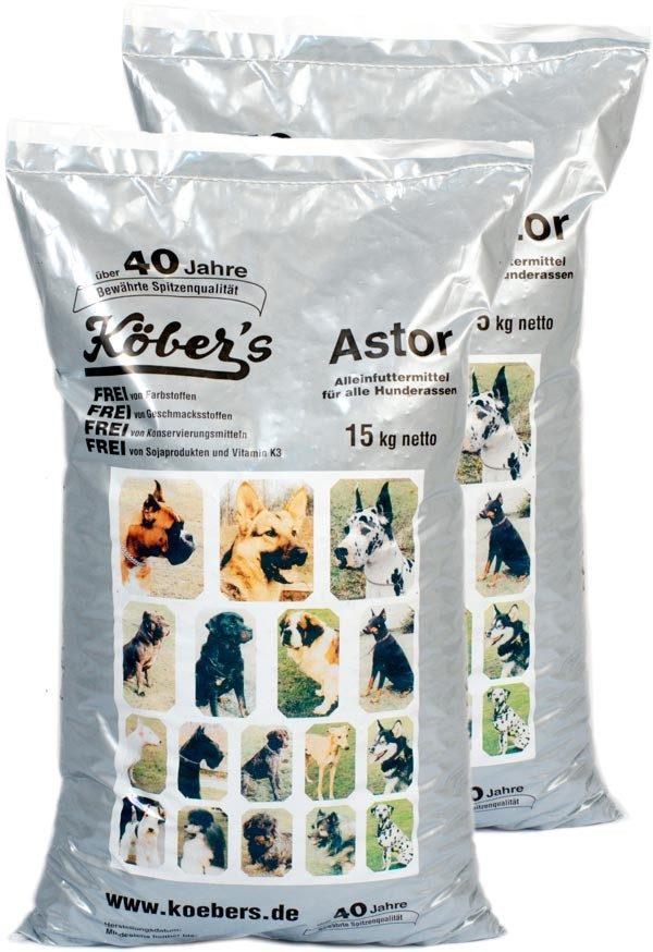 Koebers Astor 30 kg (2 x 15 kg)  - bytowa sucha karma dla wszystkich psów