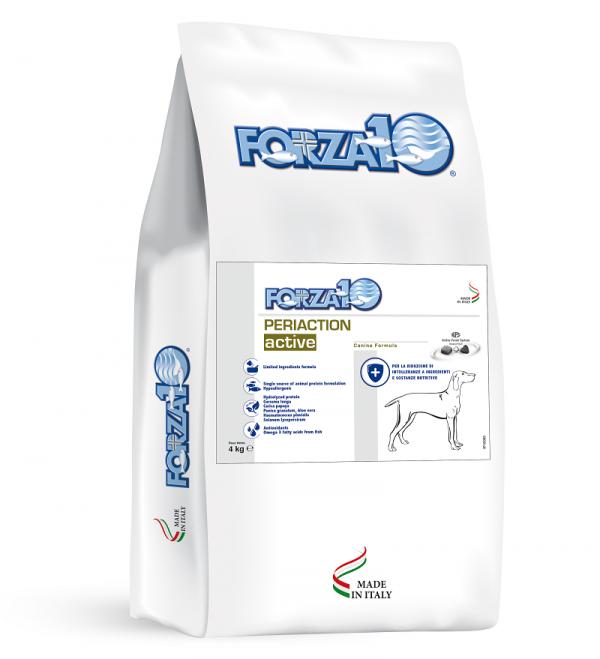 Forza10 Periaction Active - gruczoły okołoodbytowe - 4 kg - sucha karma dla psa