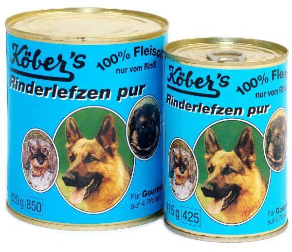 Koebers Rinderlefzen pur 400g - mokra karma 100% mięsa
