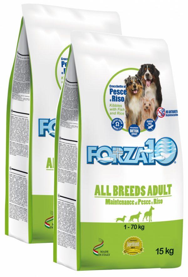 Forza10 All Breeds Maintenance z rybą i ryżem 30kg (2x15kg) - sucha karma dla psa