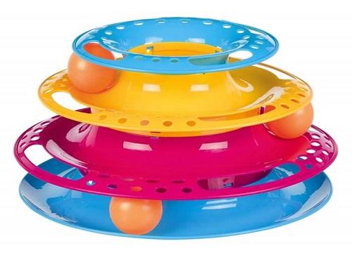 trixie wieza catch the balls z pileczkami 25cm 1