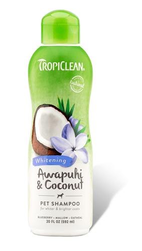 tropiclean awapuhi coconut pet shampoo szampon do siersci bialej