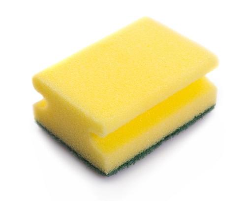 yellow sponge white